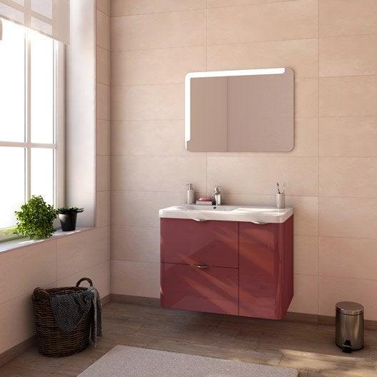meuble de salle de bains neo shine rouge marsala brillant. Black Bedroom Furniture Sets. Home Design Ideas