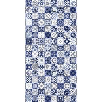 Panneau H.200 cm x l.100 cm, DECO K IN, Carreaux ciment bleu mat