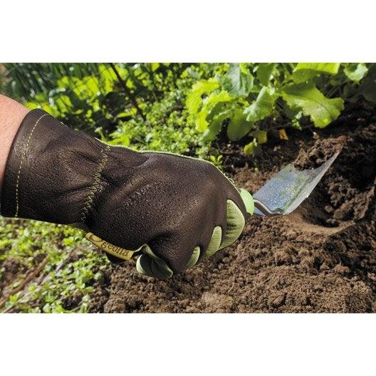 Gants de jardinage en cuir geolia taille 9 l leroy merlin for Produit de jardinage