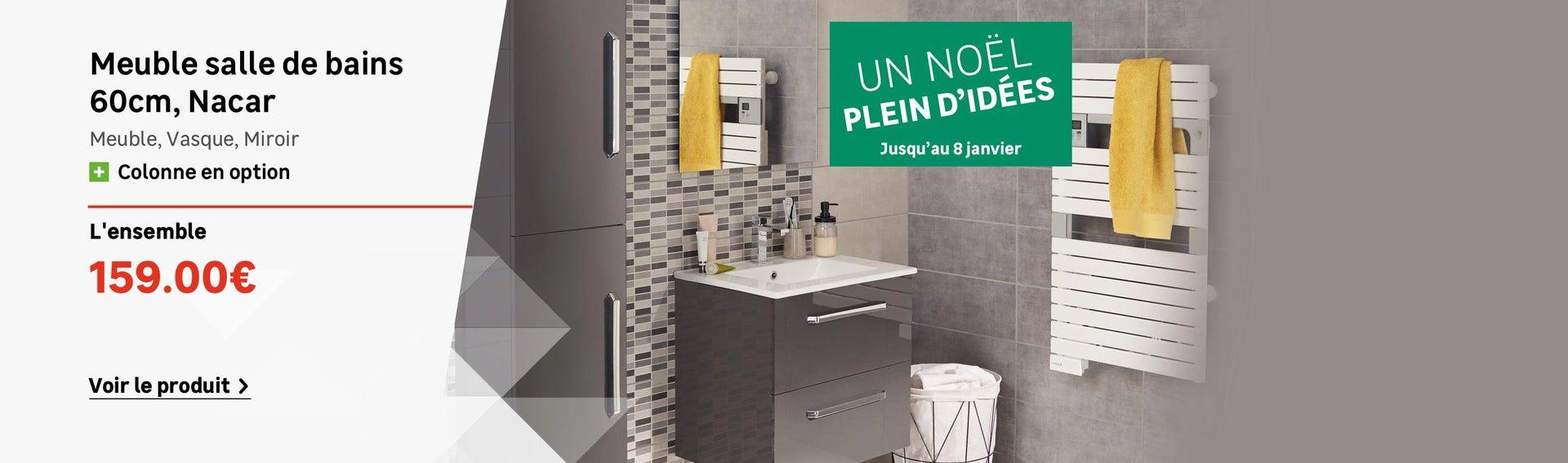 Meuble salle de bain et vasque leroy merlin for Robinet de salle de bain leroy merlin