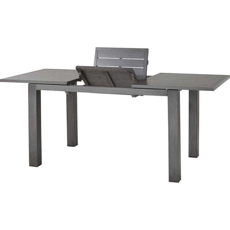 Table de jardin de repas NATERIAL Antibes rectangulaire gris 4/6 personnes