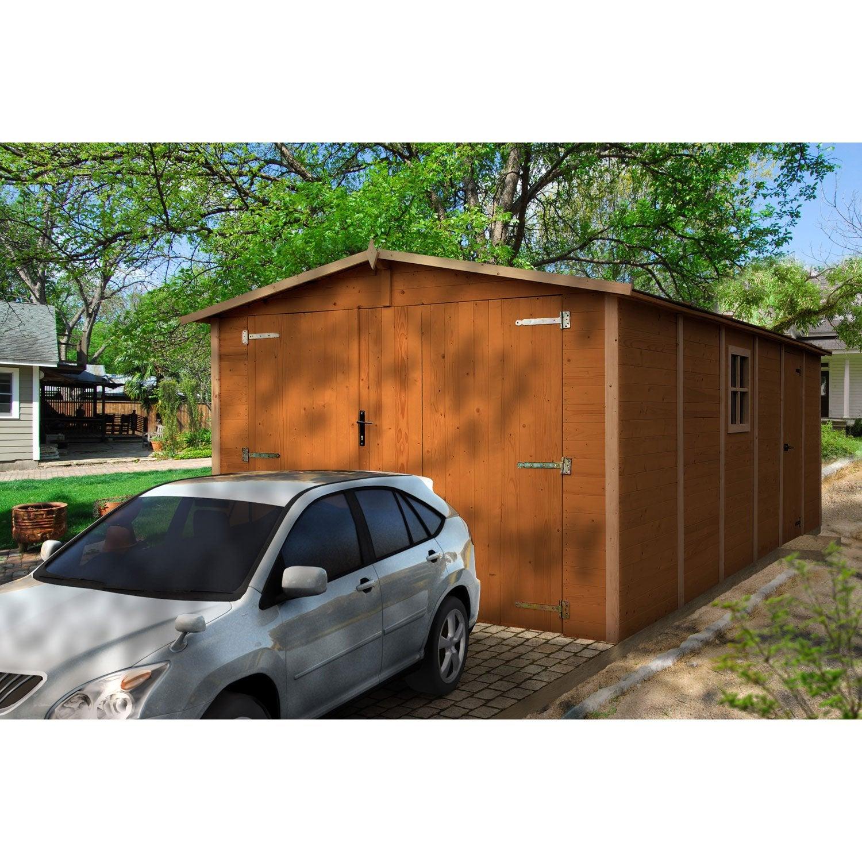 garage bois neuvy 2 voitures m leroy merlin. Black Bedroom Furniture Sets. Home Design Ideas