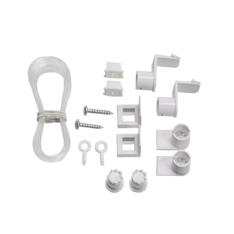 Kit De Guidage Latéral Blanc Pour Store Enrouleur