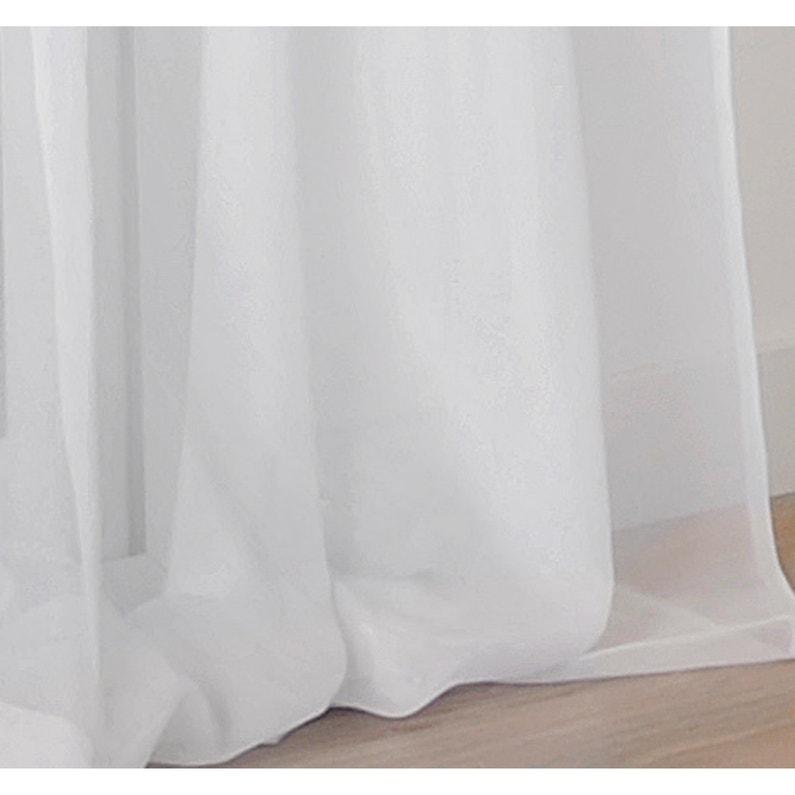 Voilage Transparent Plein Jour Blanc L300 X H250 Cm