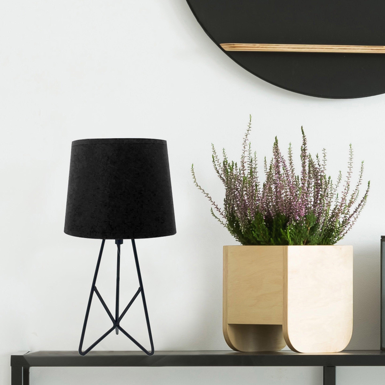 Lampe de chevet, design, métal noir, LUSSIOL Sabine