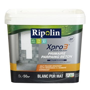 Sous-couche parpaing/béton Xpro 3 RIPOLIN, 5 L