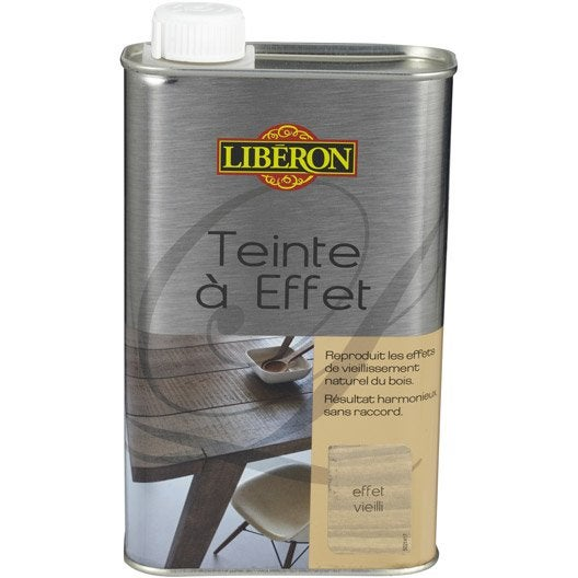 Teinte effet liberon 0 5 l effet vieilli leroy merlin for Peinture du liberon