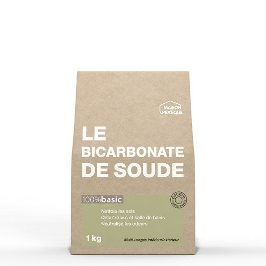 Bicarbonate de soude 100 basic maison pratique 1 kg leroy merlin - Nettoyer toilettes bicarbonate de soude ...