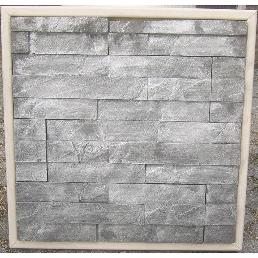 plaquette de parement b ton chrome jade ardoise leroy merlin. Black Bedroom Furniture Sets. Home Design Ideas