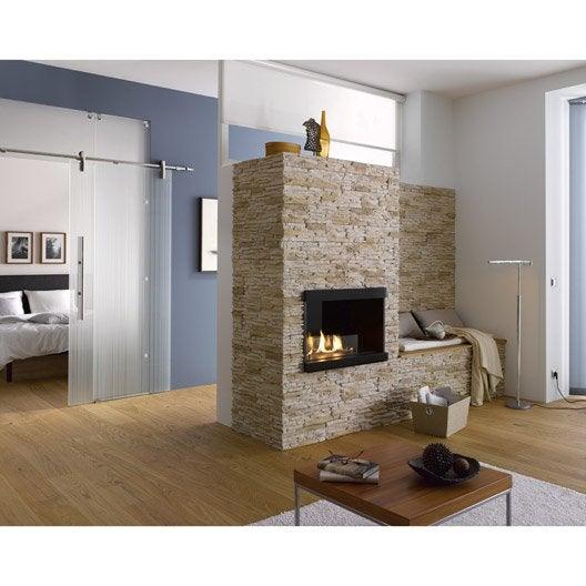 plaquette de parement linari en b ton all g cr me leroy merlin. Black Bedroom Furniture Sets. Home Design Ideas