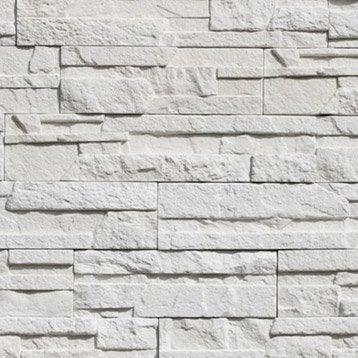 Plaquette de parement Askja en béton, blanc