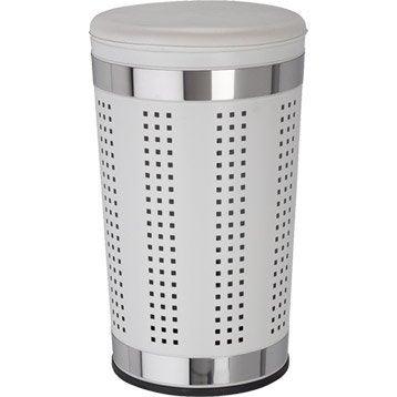 panier linge accessoires de salle de bains leroy merlin. Black Bedroom Furniture Sets. Home Design Ideas