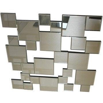 Miroir stickers cadre miroir et affiche leroy merlin for Miroir 80x80