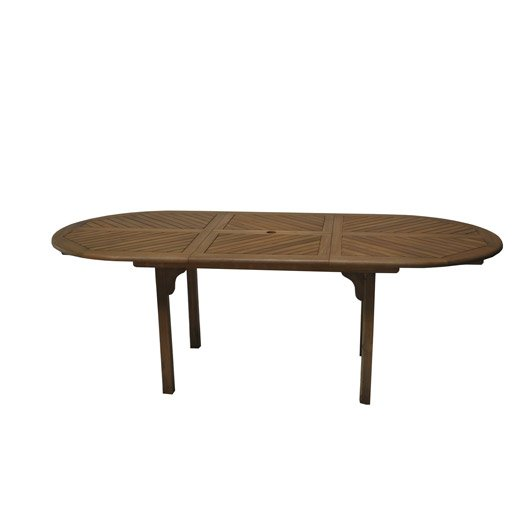 table de jardin durban ovale look teck 6 8 personnes leroy merlin. Black Bedroom Furniture Sets. Home Design Ideas