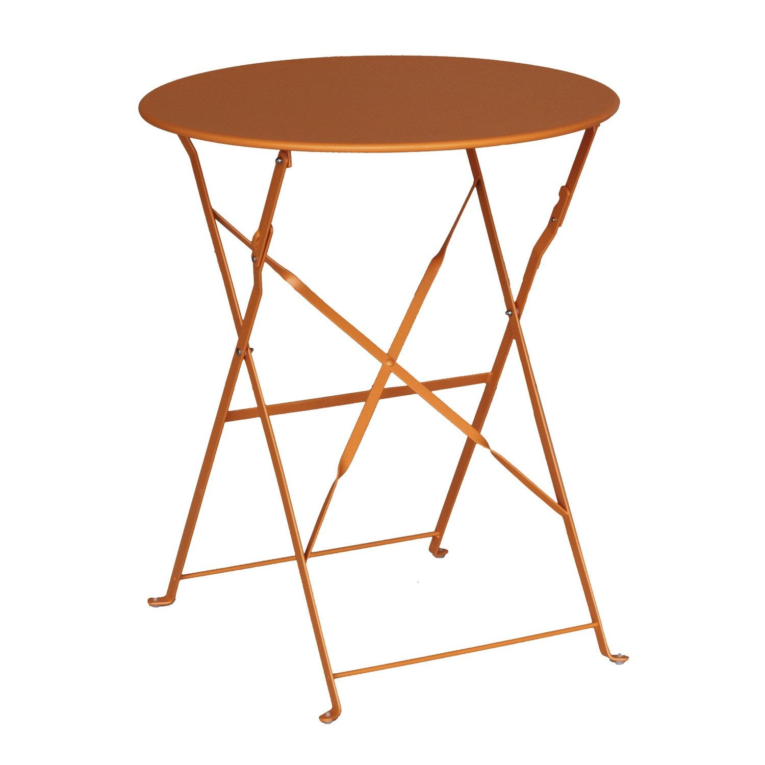 Table de jardin NATERIAL Flore ronde orange 2 personnes | Leroy Merlin