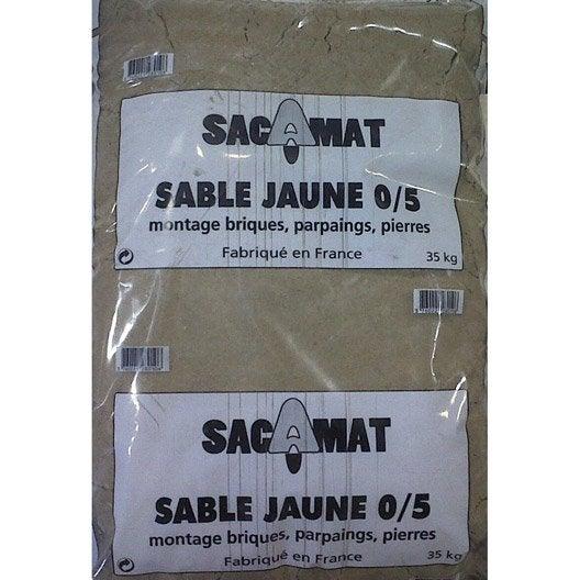 Sac De Sable Jaune 0 5 35 Kg Leroy Merlin