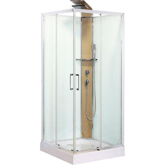 cabine de douche carr 90x90 cm remix leroy merlin. Black Bedroom Furniture Sets. Home Design Ideas
