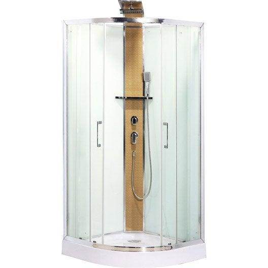 cabine de douche 1/4 de cercle 90x90 cm, remix | leroy merlin