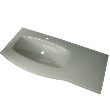 plan simple vasque wellington verre tremp 233 blanc l124 5xl13 5xp57 7 cm
