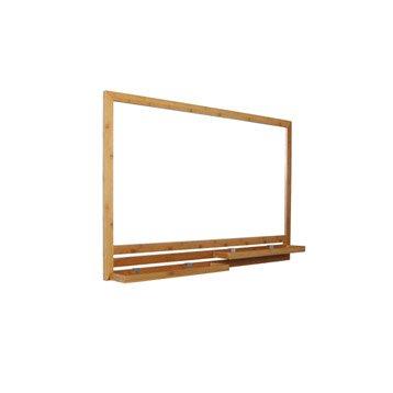 Miroir avec tablettes l.93.0 cm Natural