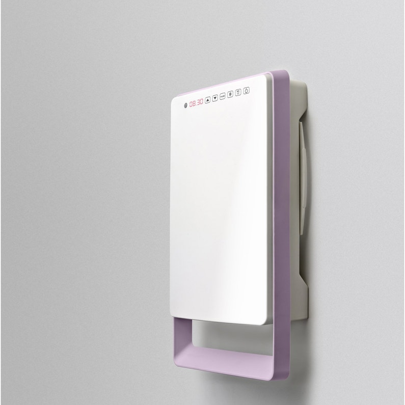 Radiateur Soufflant Salle De Bain Fixe Electrique AURORA Touch Parme 1800 W