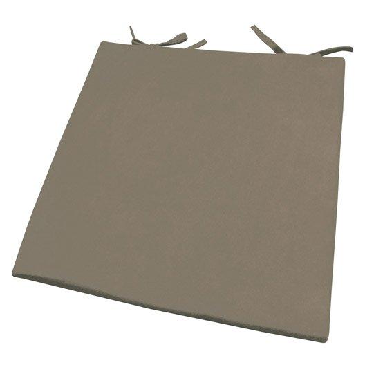 Galette de chaise su de inspire brun taupe n 3 x h 2 for Galette pour chaise pas cher