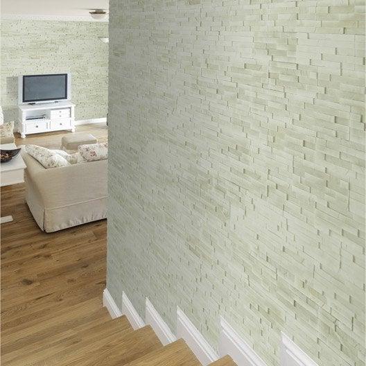 plaquette de parement cali old stone en pl tre leroy merlin. Black Bedroom Furniture Sets. Home Design Ideas