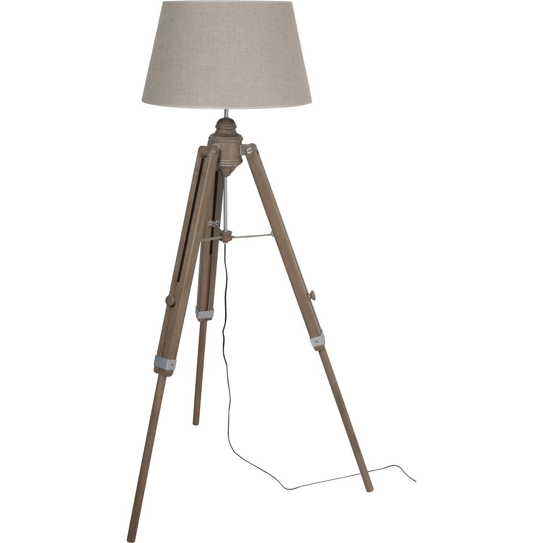 Lampadaire Augustin, 160 cm, beige, 100 W