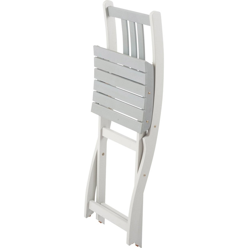 Chaise de jardin en bois Burano gris | Leroy Merlin