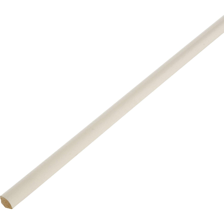 Quart de rond m dium mdf blanc ivoire 1 14 x 14 mm l 2 4 m leroy merlin - Blanc comme l ivoire ...