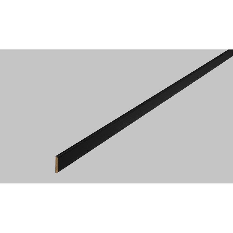 Champlat Médium Mdf 2 Arrondis Noir 4 X 30 Mm L24 M