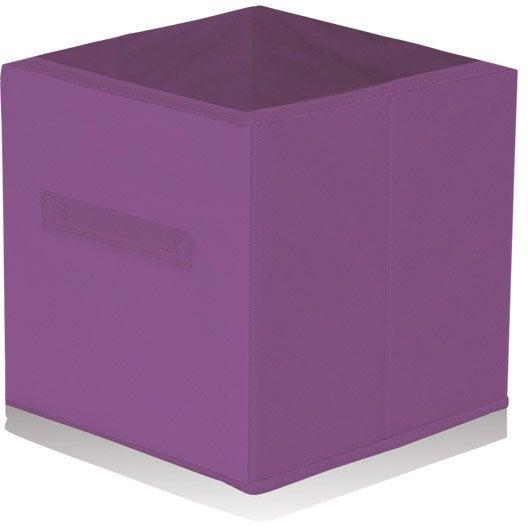 Panier de rangement intiss multikaz violet l31xh31xp31 - Panier rangement leroy merlin ...