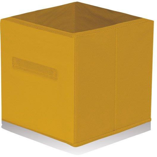 Panier de rangement intiss multikaz orange l31xh31xp31 - Panier rangement leroy merlin ...
