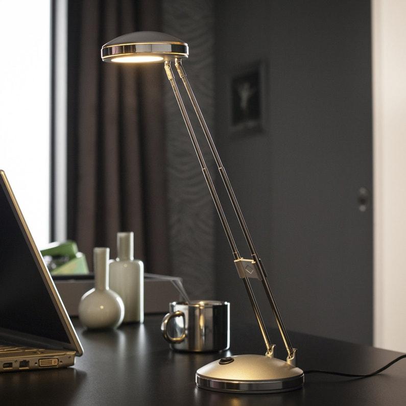 Une Lampe De Bureau 224 Led En M 233 Tal Et Plastique Gris