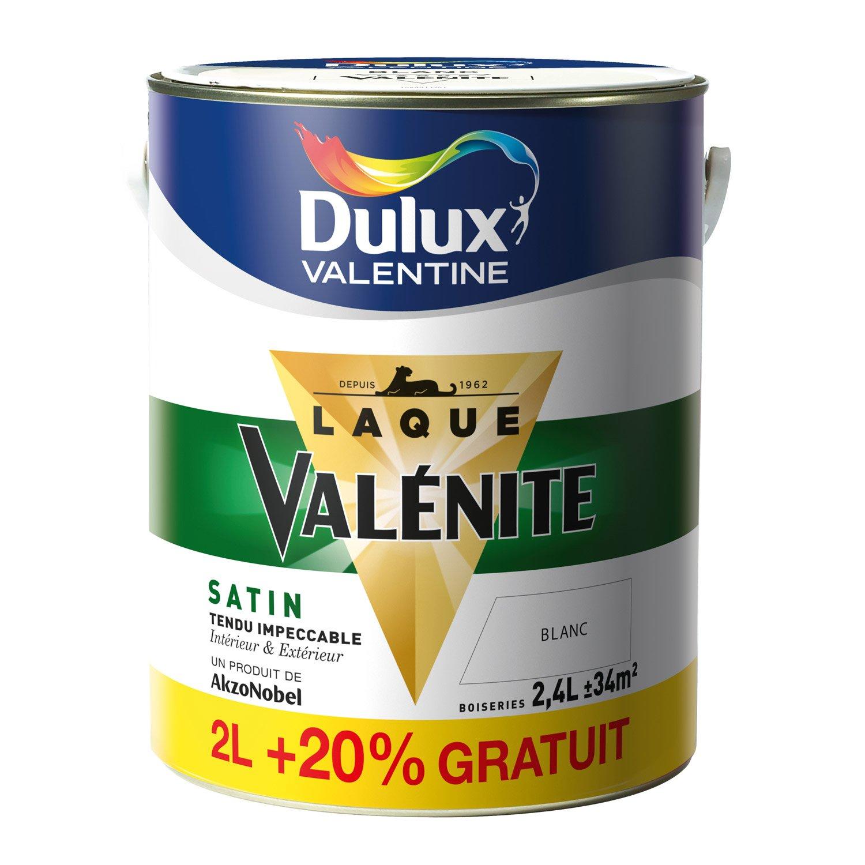Peinture Val Nite Dulux Valentine Blanc 2 L 20 Gratuit Leroy