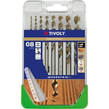 Coffret 8 forets technic bois, Diam.Assortiment de forets mm TIVOLY