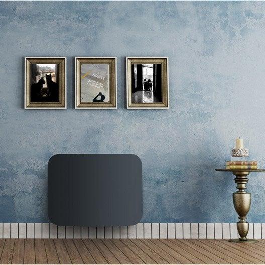 radiateur lectrique double syst me chauffant equation liraso anthracite 1500 w leroy merlin. Black Bedroom Furniture Sets. Home Design Ideas