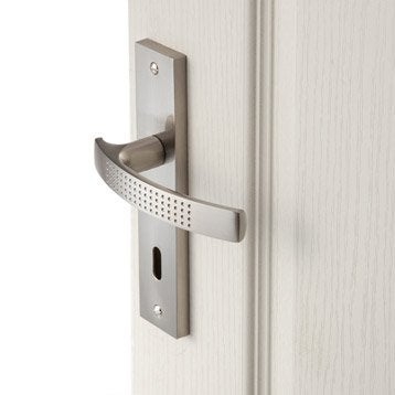 2 poignées de porte Louna trou de clé, aluminium, 165 mm