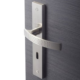 2 poignées de porte Louna trou de clé INSPIRE, aluminium, 195 mm