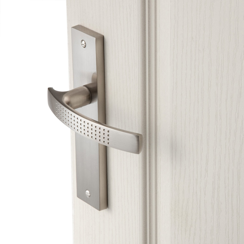 2 poign es de porte louna sans trou inspire aluminium 165 mm leroy merlin - Poignee de porte cuisine pas cher ...