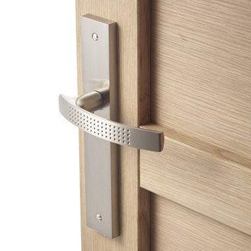 2 poignées de porte Louna sans trou, aluminium, 195 mm
