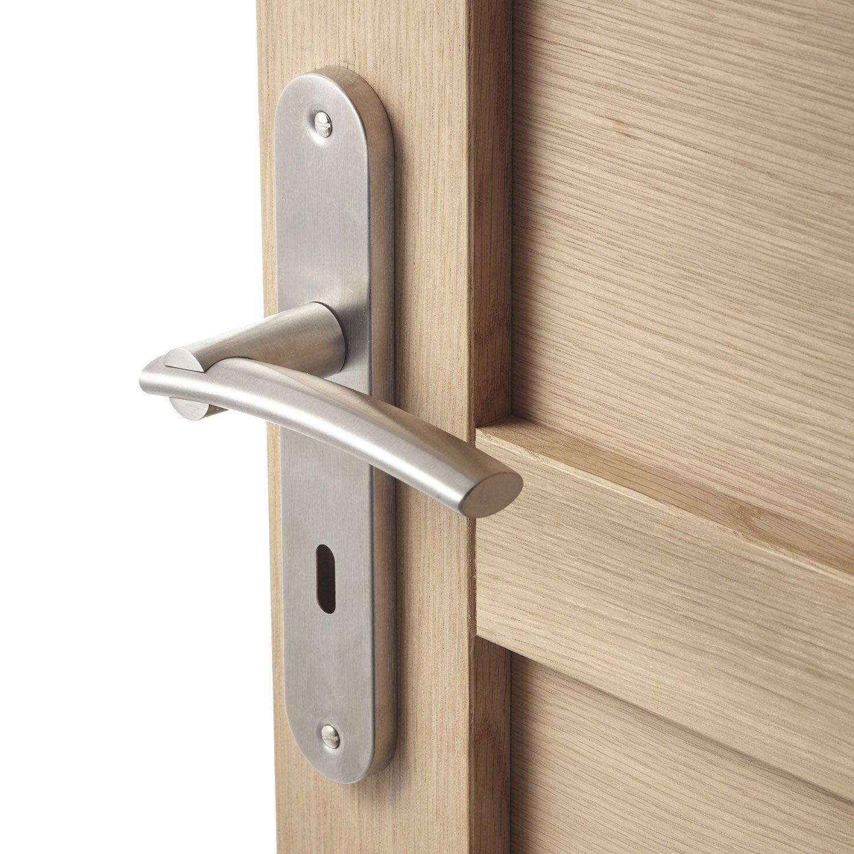 merveilleux 2 poignées de porte Marion trou de clé INSPIRE, acier inoxydable, 195 mm