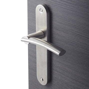 2 poignées de porte Marion sans trou INSPIRE, acier inoxydable, 195 mm