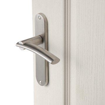 Lot de 2 poignées de porte Marion sans trou, acier inoxydable satiné, 165 mm