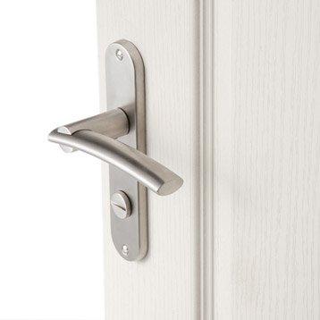 2 poignées de porte Marion condamnation/décondamnation, acier inoxydable, 165 mm
