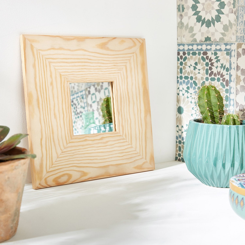 Miroir Brut, beige, l.10 x H.10 cm