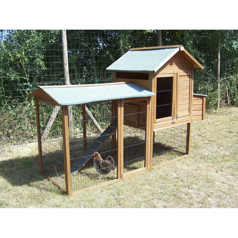 poulailler bois teint clair 227 x 94 x 151 cm leroy merlin. Black Bedroom Furniture Sets. Home Design Ideas
