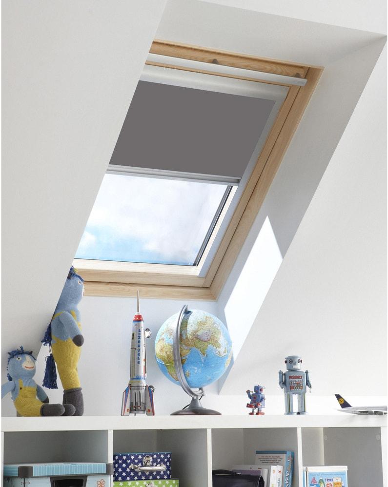 Store Fenêtre De Toit Inspire Occultant Manuel Gris Galet N3