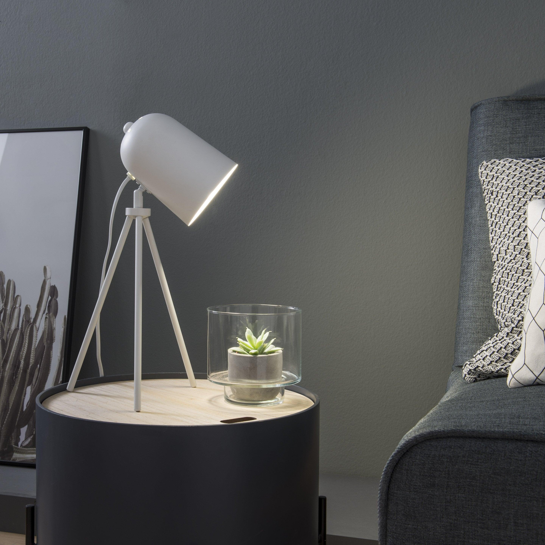 Lampe, design, métal blanc, INSPIRE Ariane