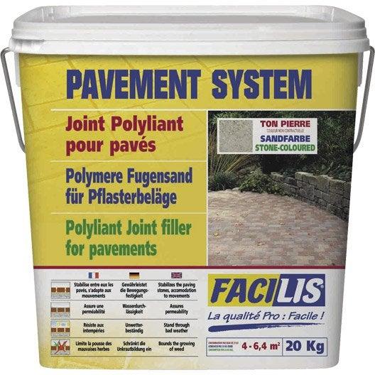 Joint pour pav s ton pierre leroy merlin - Produit pour nettoyer paves autobloquants ...